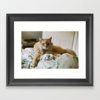 Mon Chat Framed Art Print