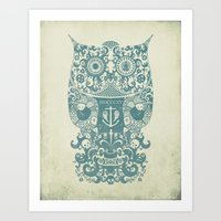 The Old Owl - Vintage edition Art Print