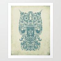 The Old Owl - Vintage Ed… Art Print