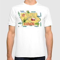 IOWA Mens Fitted Tee White SMALL