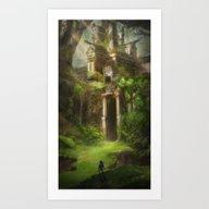 Forest Temple - Large Ve… Art Print