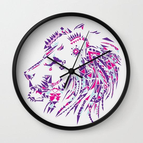 Aztec Lion Wall Clock