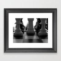 Check Framed Art Print