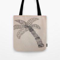 Zentangle Palm Tree Tote Bag