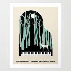 Rachmaninoff -  Prelude in C-Sharp Minor for Piano Art Print
