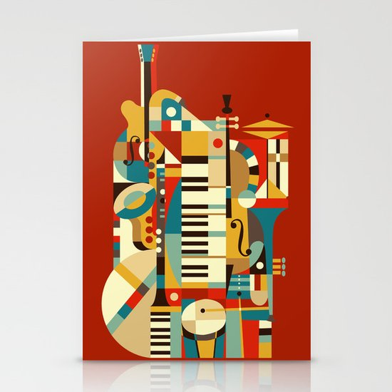 Jazz Fusion Stationery Card