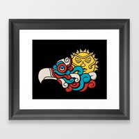 Eagle Sun Framed Art Print