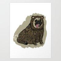 Bear Pug Art Print