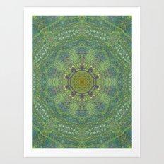 liquid green mandala? Art Print