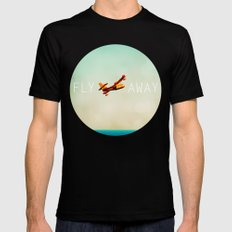 Fly Away Black SMALL Mens Fitted Tee