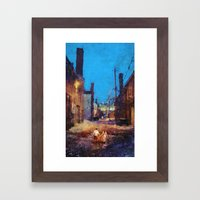 Lovers of the night Framed Art Print