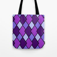 Big Harlequin Purple_Multi Tote Bag