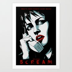 SCREAM - BLUE (Alternative Movie Poster) Art Print