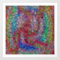 Tangled Colors Art Print