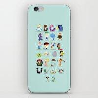 Animated characters abc iPhone & iPod Skin