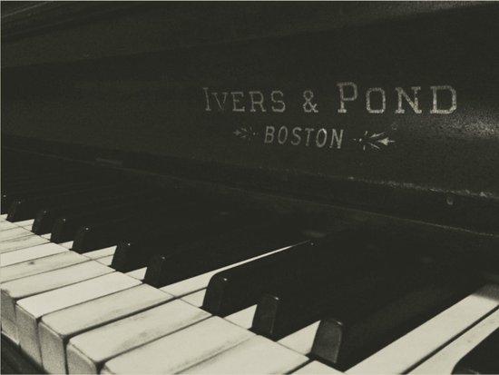 Grayscale Piano Keys Art Print