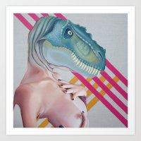 Queer Dinosaur Art Print