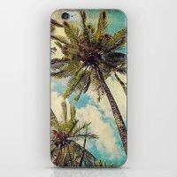 Vintage Blue Hawaii Palm… iPhone & iPod Skin