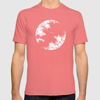Night's Sky Grey Mens Fitted Tee Pomegranate SMALL