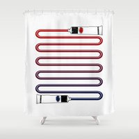 Neutral. Shower Curtain