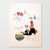 FRASK Collage Canvas Print