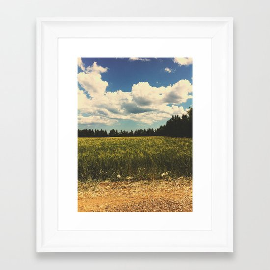 Soy grass Framed Art Print
