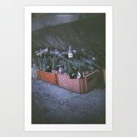 Bottle of memories Art Print