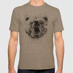 Grizzly Mens Fitted Tee Tri-Coffee SMALL