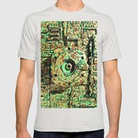 Technological Engine Mens Fitted Tee Silver SMALL