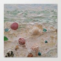 Treasures of Beach Combing Canvas Print