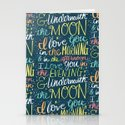 I LOVE YOU IN THE MORNING (color) Stationery Cards