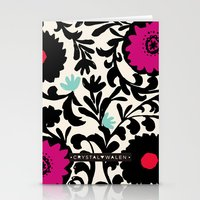 Suzanna Flower Stationery Cards