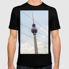 Berliner Fernsehturm Black SMALL Mens Fitted Tee