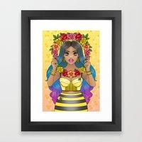 Buzz Buzz Framed Art Print