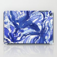 Blue flowers. iPad Case