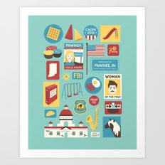 Parks and Recreation Art Print