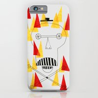 iPhone & iPod Case featuring Flaming Skull by marcusmelton