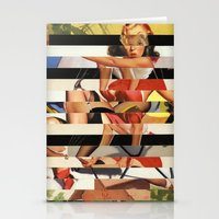 Glitch Pin-Up Redux: Lin… Stationery Cards