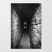 The Silhouette At The En… Canvas Print