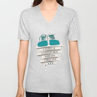 a journey of a thousand miles begins with a single step Unisex V-Neck