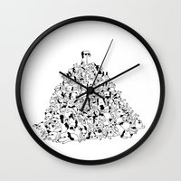 Pupper Pile Wall Clock