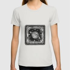 Saturn Womens Fitted Tee Silver SMALL