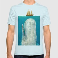 The Whale  Mens Fitted Tee Light Blue SMALL