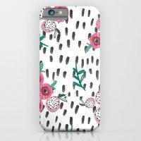 Rose. Illustration, pattern, print, floral design, art, painting, flowers, flower, iPhone 6 Slim Case