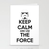 Keep Calm and use the Force Stationery Cards