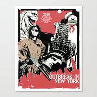 Outbreak in New York Canvas Print