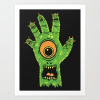 Finger Monsters Art Print