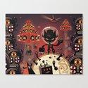 DJ Hammerhand cat - party at ogm garden Canvas Print