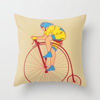 Pennyfarthing  Throw Pillow