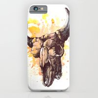 iPhone & iPod Case featuring Skull 2 by Colin Maisonpierre